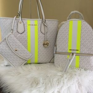 New Michael Kors Eva tote & Rhea Backpack bundle